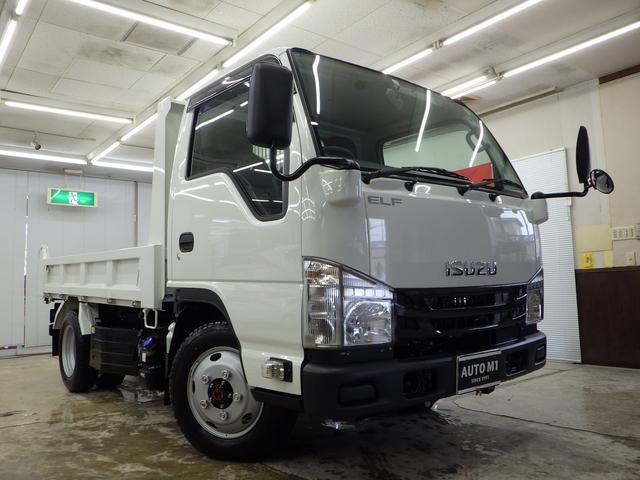 いすゞ エルフトラック フルフラットローダンプ 4WD 現行モデル 5MT
