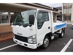 エルフトラック2t強化ダンプ 全低床 5MT エアバック ABS キーレス