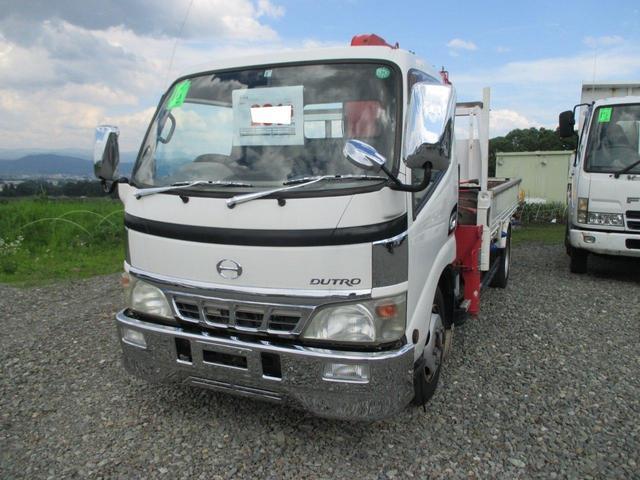 日野 6速マニュアルシフト ディーゼル 3段クレーン車 ETC
