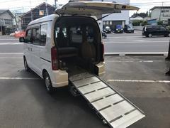 エブリイワゴン4WD 車いす移動車 後部電動固定 リヤシート付 福祉車両