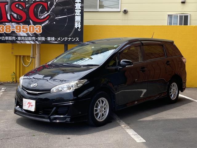 トヨタ ウィッシュ 1.8X 4WD メモリーナビ DVD再生可能 CD キーレス 3列シート 7人乗り 社外15インチアルミ  ETC ABS エアバッグ