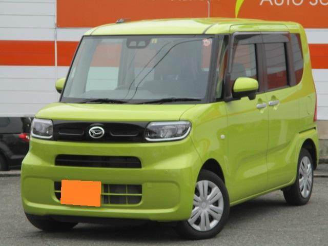 ダイハツ タント X 4WD Bluetoothオーディオ 片側パワスラ Fシートヒーター スマアシIII オートライト スマートキー プッシュスタート