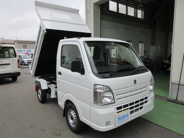 スズキ  4WDダンプ 新明和製  電動油圧式  3方開き 車検令和4年5月まで ベースグレードKC エアコン パワステ付き 走行57KM