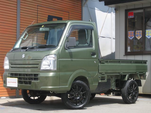 スズキ キャリイトラック KCエアコン・パワステ 4WD 2インチリフトアップ 15インチアルミ