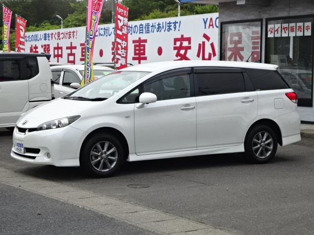 トヨタ ウィッシュ 1.8Sモノトーン スマートキー パドルシフト ナビ TV HID 4WD