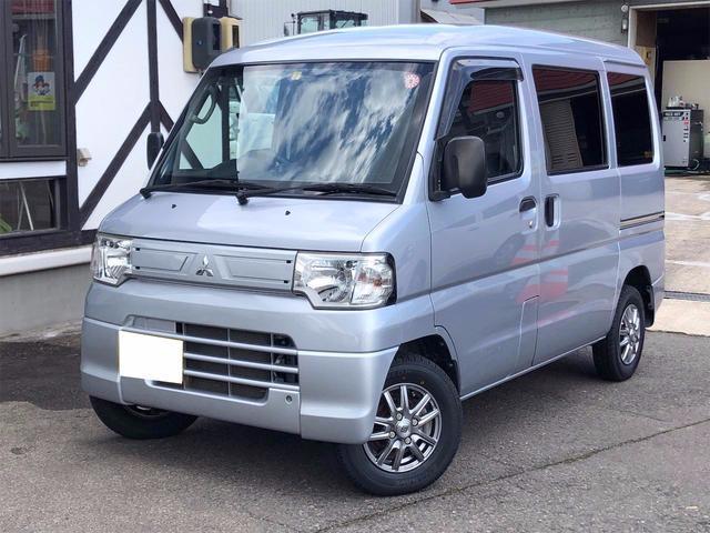 三菱 ミニキャブバン CD 4WD ハイルーフ エアコン パワステ オートマ 新品アルミホイール 新品タイヤ 両側スライドドア