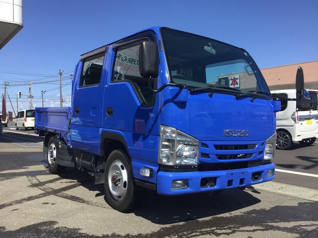 いすゞ エルフトラック 4WD Wキャブ1.15t ICターボ フルフラットローSG