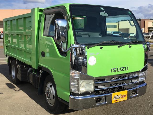 いすゞ エルフトラック  4WD IC-TB FFローSG 2t強化深ダンプ(二段観音開き)