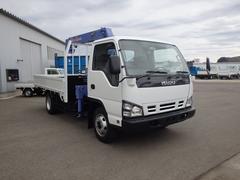 エルフトラック2t ワイドロング 4WD タダノ3段クレーン