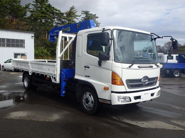 日野  増トン 4WD デフロック タダノ5段クレーン ラジコンフックイン