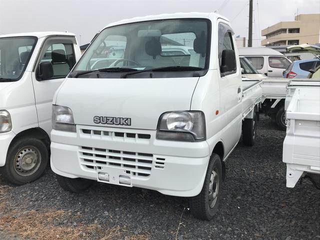 スズキ 4WD MT 軽トラック ホワイト