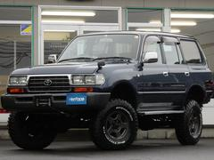 ランドクルーザー80後期型希少GXリア観音開輸出用角目四灯ヘッドライト新品タイヤ