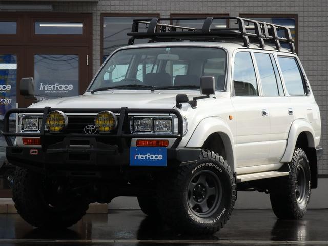 トヨタ ランドクルーザー80 西日本仕入最終型GXディーゼTB純正白ARB新品純正角目四灯