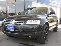 VW トゥアレグV6 テックアート22AW ローダウン 黒革