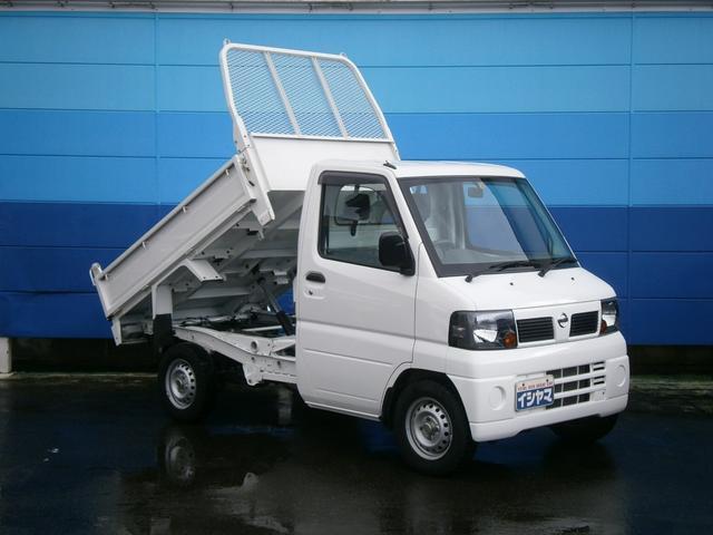 日産 PTO式低床ダンプ 三方開 エアコン パワステ メーカー特装