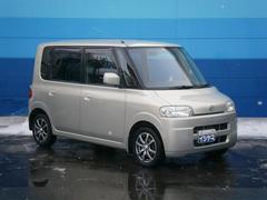 タントR 4WD 純正ナビ 社外アルミホイール 黒革調シートカバー