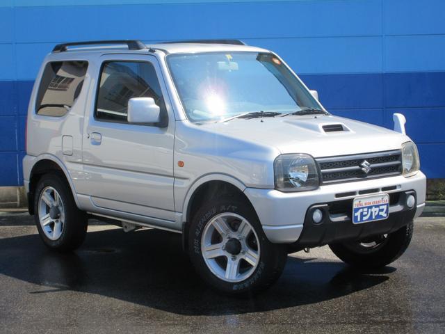 スズキ XC 4WD 純正HDDナビ CD録音&DVD再生 寒冷地仕様 ドアミラーヒーター スペア背面タイヤカバー ルーフレール ターボ ホイール組スタッドレスタイヤ有