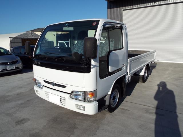 日産 アトラストラック ロングスーパーローDX ディーゼル 平 木製荷台 1.3t シングルタイヤ