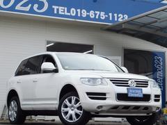 VW トゥアレグV6 4WD 純正HDDナビ ETC 黒革シート キーレス