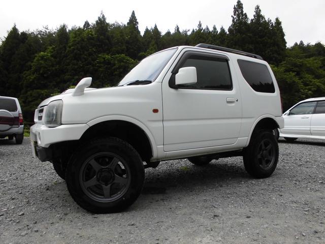 スズキ XC 4WDインタークーラーターボ 社外HDDナビ&DVD リフトアップ 社外16インチアルミ 前後社外バンパー 社外グリル 社外マフラー 社外LEDテールランプ フォグランプ マニュアル5速 ルーフレール