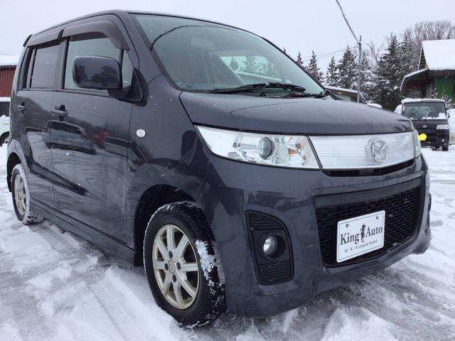 マツダ AZワゴンカスタムスタイル XS 4WD ナビ TV  プッシュスタート シートヒーター スタットレスタイヤ