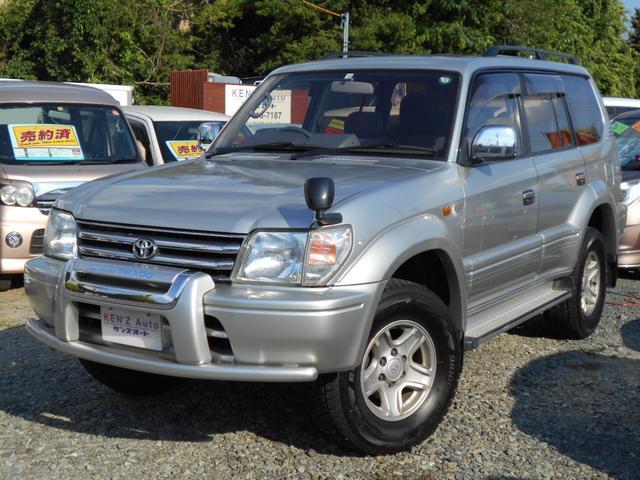 トヨタ ランドクルーザープラド TXリミテッド 4WD 2700 ガソリン タイミングチェーン AAC キーレス プライバシーガラス バイザー 3列シート サンルーフ 車検整備付