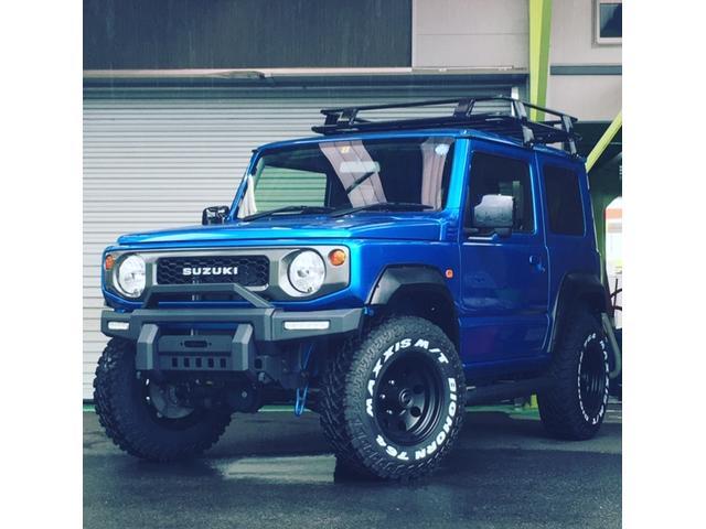 スズキ XL MAXXIS M/T アメリカンレーシング 15インチ 1.5インチリフトアップ PROCOMPショック ラテラルF/R 社外オーバーフェンダー 新品パナソニックストラーダ 9インチ Sヒーター