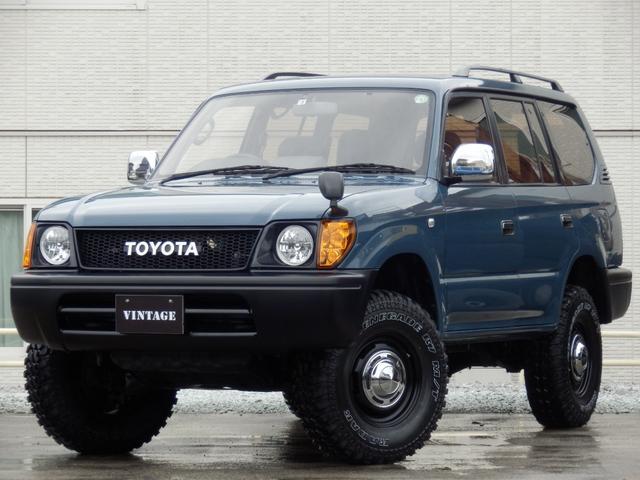 トヨタ ランドクルーザープラド TXリミテッド ナロークラシックコンプリート丸目換装2インチリフトアップTOYOTAグリルSDナビフルセグサンルーフ8人乗り新品オレンジコーナーレンズ西日本仕入タイミングチェーンETC