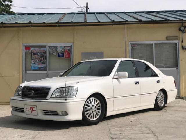 トヨタ ロイヤルサルーン DVDマルチ 本革 車高調 HID4灯