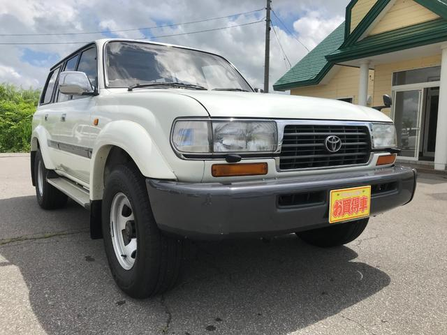 トヨタ ランドクルーザー80 VX 1ナンバー登録 社外地デジナビ