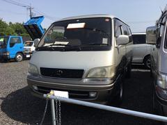 ハイエースワゴンWエアバッグ サンルーフ 3列シート 4WD CD
