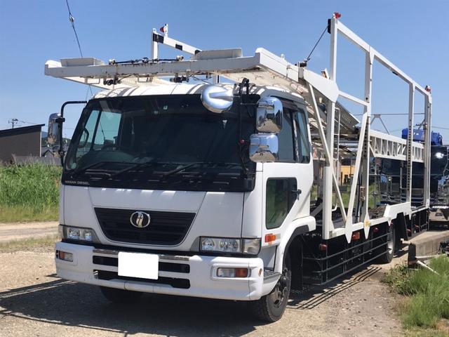 UDトラックス コンドル  低床 3台積み バックモニター ベット付き