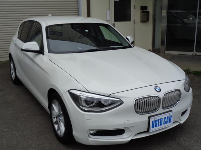 BMW 116i スタイル 走行48600キロ純正ナビ16インAWHIDライト革巻きハンドルスマートキーX2プッシュスタート