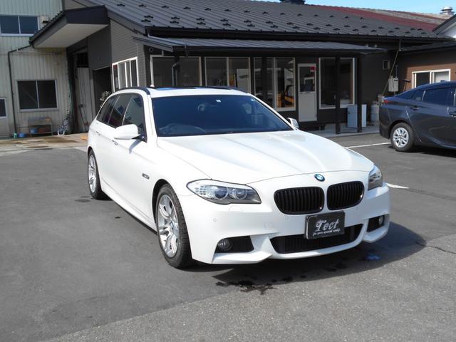 BMW 5シリーズ 523dブルーパフォーマンス ツーリングMスポーツP 黒革パワーシート/ツインサンルーフ/ETC/オートクルーズコントロール/パワーバックゲート/サイドブラインド/キセノンヘッドライト/地上デジタルTV/Mスポーツ/エクスクルーシブパッケージ
