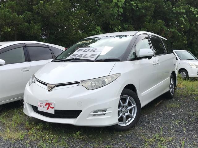 トヨタ エスティマ アエラス 4WD AW ETC ミニバン オーディオ付