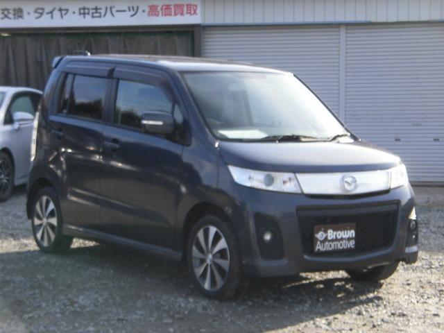 マツダ AZワゴンカスタムスタイル XS 4WD プッシュスタート FOG シートヒーター付