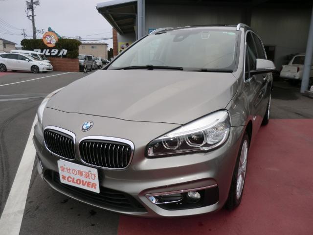 BMW 2シリーズ 218dグランツアラー ラグジュアリー /サンルーフ/7人乗/純正ナビ/フルセグ/バックカメラ/ETC/前後ドラレコ/フォグランプ/レザーシート/ソナー/パワーリアゲート