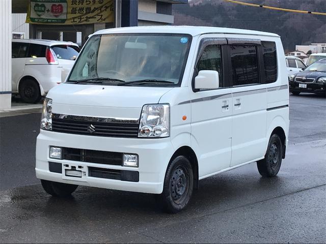 スズキ エブリイワゴン JP 4WD 5MT ワンオーナー エアコン、パワステ付き シートヒーター 後部座席フルフラット CD ラジオ付き