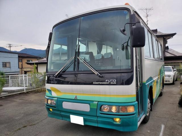 三菱ふそう  エアロミディ 29人乗り 小型バス 6速マニュアル エアコン パワステ フォグライト ディーゼル エアサス