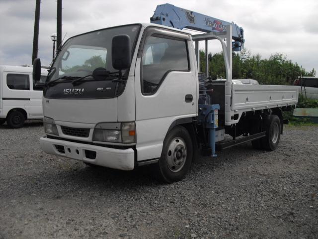 いすゞ エルフトラック ロング 標準キャブ 高床ロング2トン 平ボディー クレーン 3段タダノ ZR263 フックイン