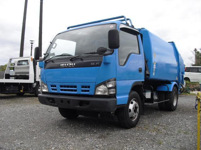 いすゞ エルフトラック  ワイドセミロングディーゼルターボ 4800cc 4HL1  プレスパッカー車5.8立米3トン 3べダル 6MT