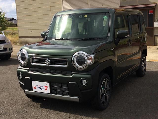 スズキ ハスラー ハイブリッドX 4WD 届出済未使用車 LEDライト スズキセーフティサポート オートライト