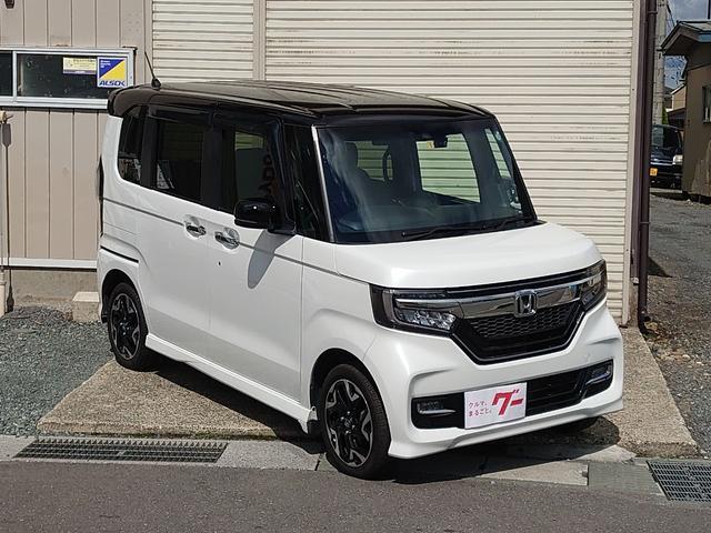 ホンダ N-BOXカスタム G・EXターボホンダセンシング 4WD ドラレコ ABS ETC スマートキー 盗難防止装置
