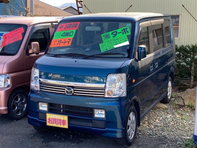 マツダ スクラムワゴン PZターボ 4WD 左側パワースライドドア HDDナビ オートエアコン シートヒーター キーレス ミラーヒーター フォグランプ リアヒーター