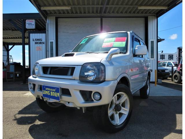 マツダ AZオフロード XC 4WD 5速マニュアル キーレス ABS 運転席助手席エアバック CDデッキ 背面タイヤ パワーウィンドウ レザー調シートカバー