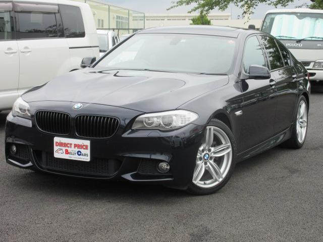 BMW 5シリーズ 528IMスポーツ サンルーフ 茶色革シート  純正19AW Mスポーツ 茶色レザーシート サンルーフ 純正HDDナビ地デジ&バックカメラ TV-KIT パドルシフト キセノンライト スマートキー 純正19インチアルミ