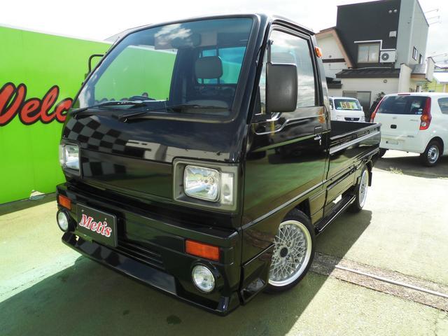 スズキ マニュアル4速 2ストエンジン カスタム済 全塗装ブラック