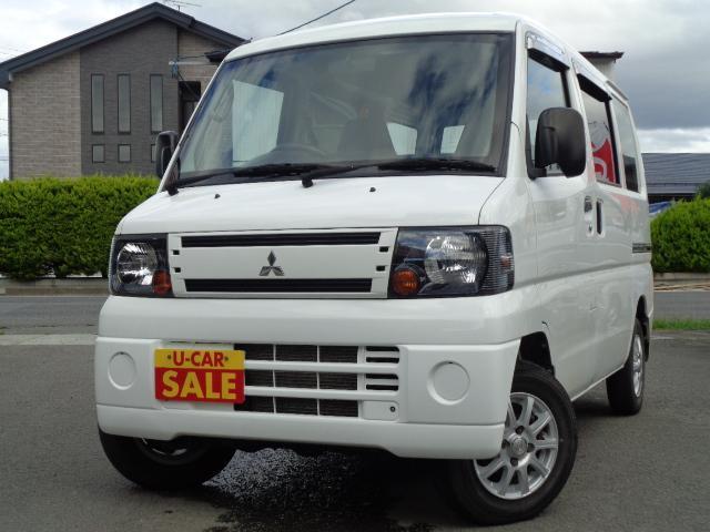 三菱 ミニキャブバン CD 4WD エアコン パワステ ハイル-フ 社外アルミ