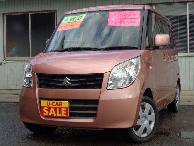 スズキ X 4WD タ-ボ スマ-トキ- パワースライドドア CD シ-トカバ- ABS Tチェ-ン