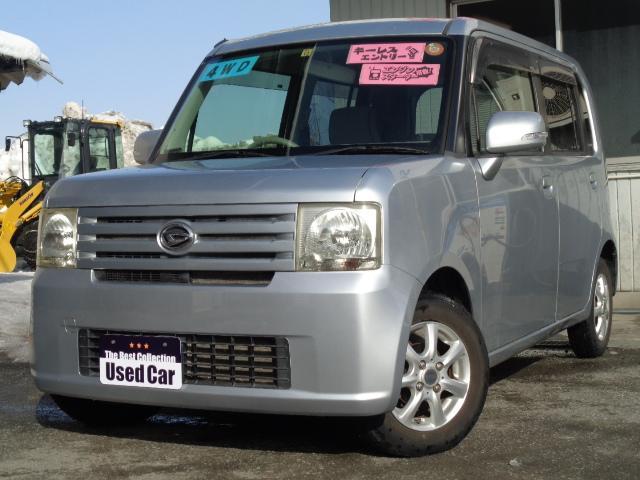 ダイハツ X 4WD スマートキー 電動シ-ト エンスタ CD 社外アルミ 寒冷地仕様 ABS Tチェ-ン
